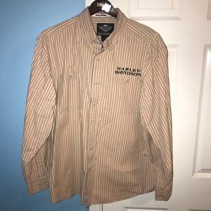 Men's XL Harley-Davidson Vintage Button Down Shirt